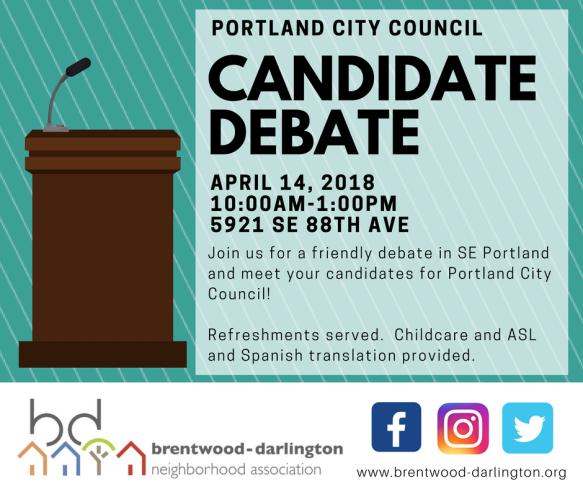 April 14 Debate - Social Media Image
