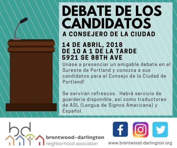 April 14 Debate - Social Media Image_SPANISH